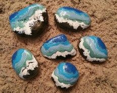 Painted Rocks With Inspirational Picture And Words 9