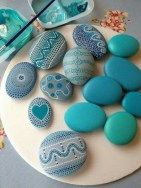 Painted Rocks With Inspirational Picture And Words 90