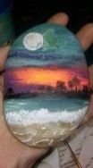 Painted Rocks With Inspirational Picture And Words 91