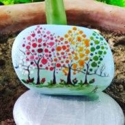 Painted Rocks With Inspirational Picture And Words 94