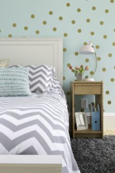 Pink White And Gold Bedroom 105