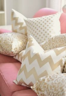 Pink White And Gold Bedroom 108