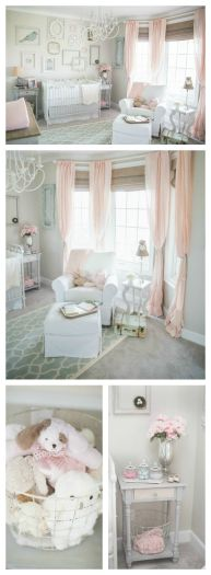 Pink White And Gold Bedroom 13