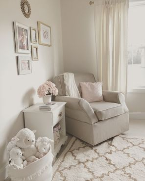 Pink White And Gold Bedroom 30