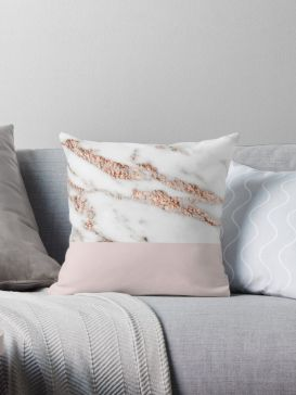 Pink White And Gold Bedroom 35
