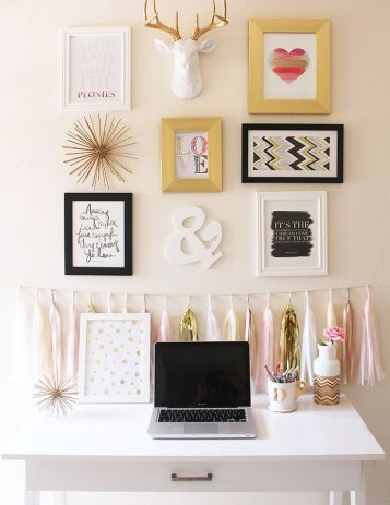 Pink White And Gold Bedroom 43