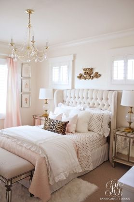 Pink White And Gold Bedroom 44