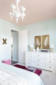 Pink White And Gold Bedroom 48
