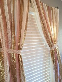 Pink White And Gold Bedroom 52