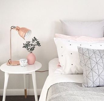 Pink White And Gold Bedroom 61