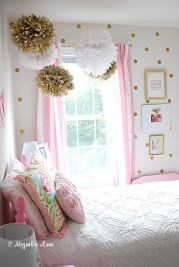 Pink White And Gold Bedroom 7