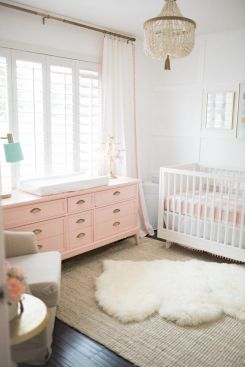 Pink White And Gold Bedroom 82