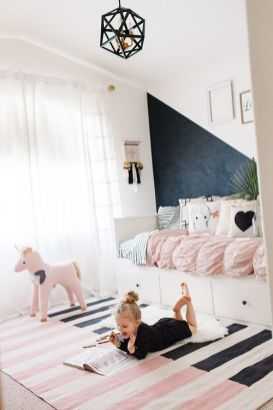 Pink White And Gold Bedroom 85