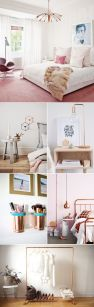 Pink White And Gold Bedroom 87