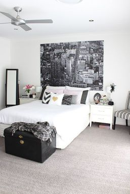 Pink White And Gold Bedroom 93