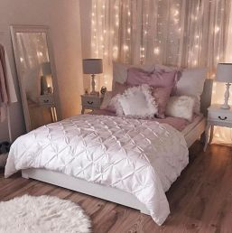 Pink White And Gold Bedroom 95