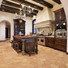 Spanish Mission Style Kitchen 11