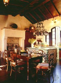 Spanish Mission Style Kitchen 22