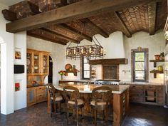 Spanish Mission Style Kitchen 32