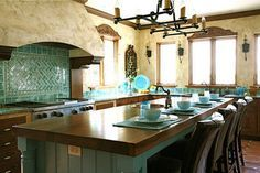 Spanish Mission Style Kitchen 47
