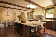 Spanish Mission Style Kitchen 50