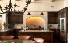 Spanish Mission Style Kitchen 62