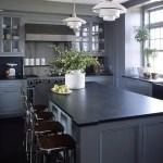 Gray Cabinets Black Countertops 2