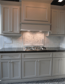 Gray Cabinets Black Countertops 9