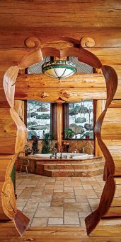Log Home Bathrooms 10