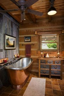 Log Home Bathrooms 17