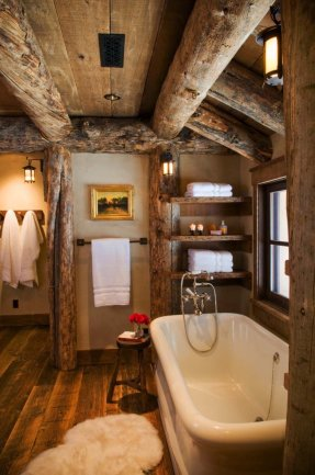 Log Home Bathrooms 7