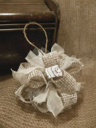 Burlap Christmas Tree Wreath 10
