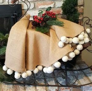 Burlap Christmas Tree Wreath 14