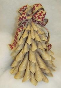 Burlap Christmas Tree Wreath 15