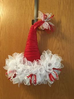 Burlap Christmas Tree Wreath 17