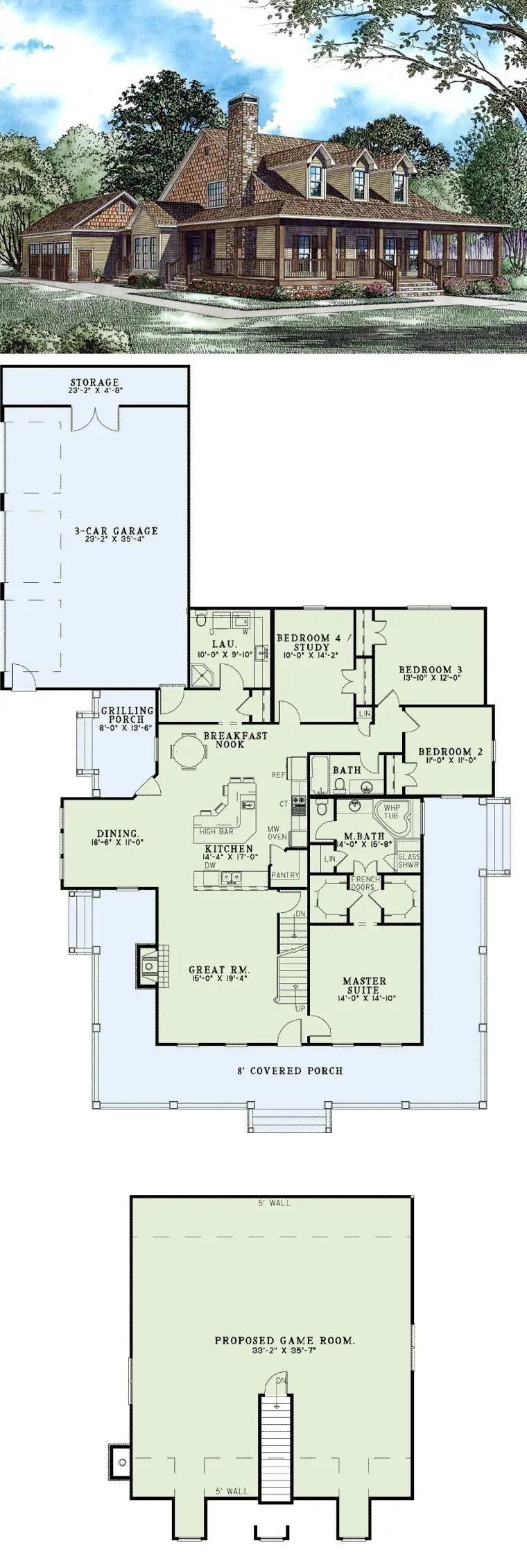 Farmhouse Floor Plans 3
