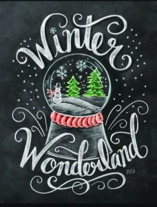 Christmas Chalkboard Art 8