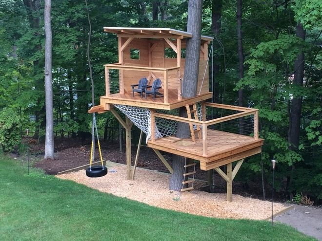20 Diy Tree House Plans Design Ideas For Adult And Kids Decoratoo