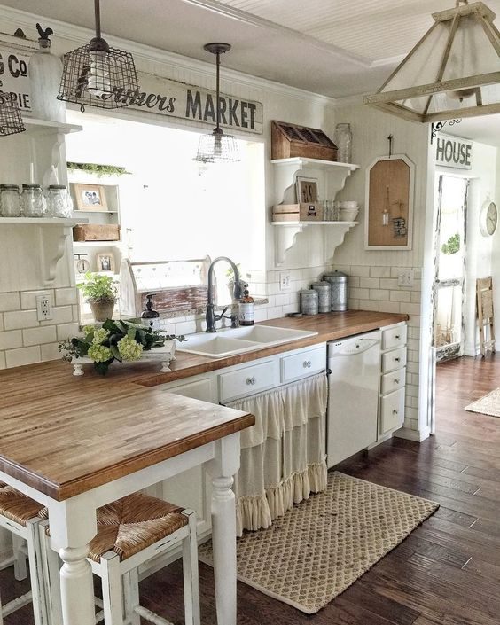12 Farmhouse Kitchen Ideas on a Budget for 2018   decoratoo