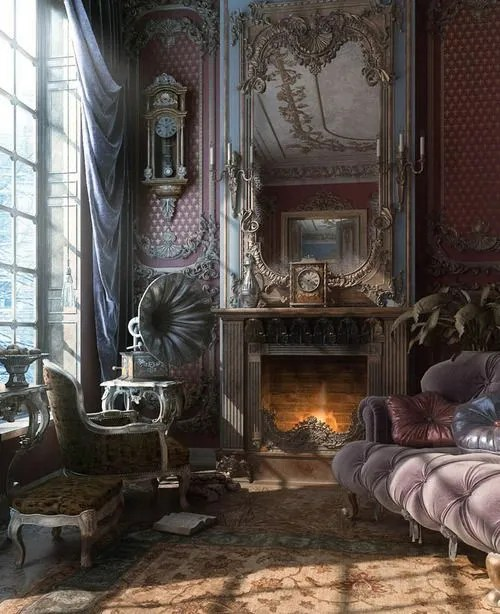 Gothic Furniture Set For Living Room 1