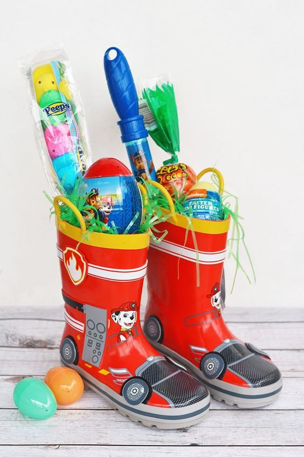 Rain Boot Easter Basket 2 Result