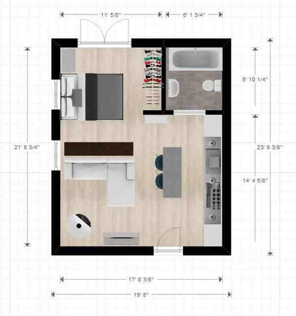 One Room Apartment 3 Result
