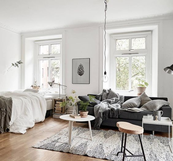 15 Ideas of Minimalist and Simple One-Room Apartment - decoratoo