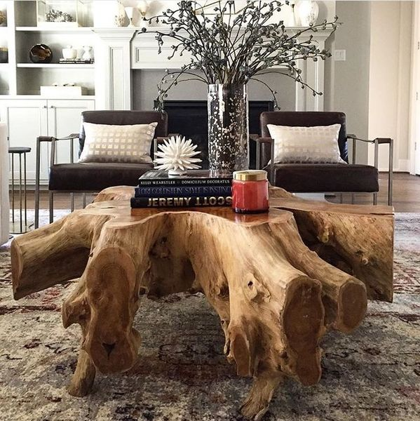 Rustic Root Ball Table