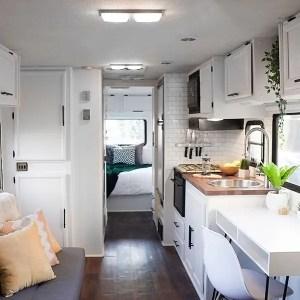White Farmhouse Style RV