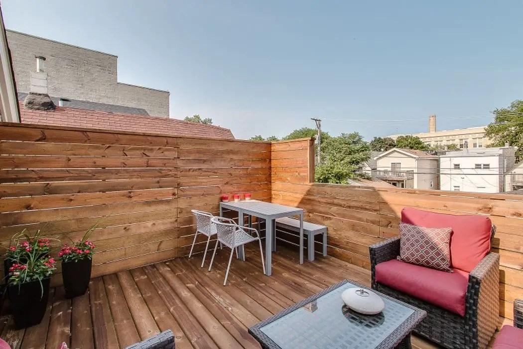 dark wood outdoor deck