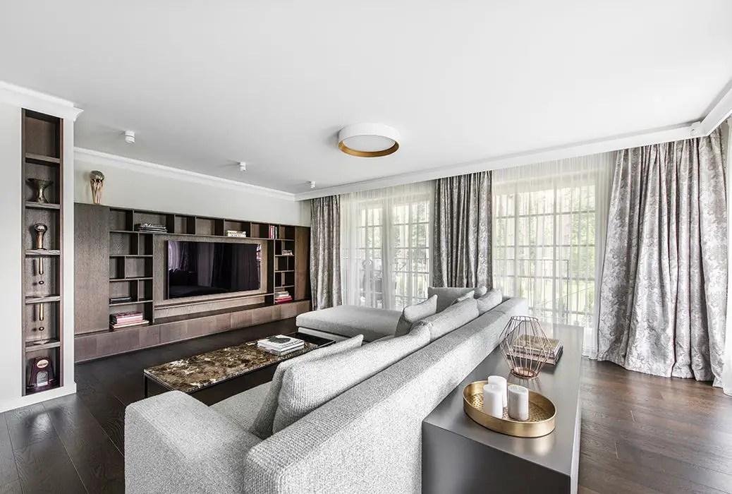 Large Living roomLiving Room in Vilnius Apartment
