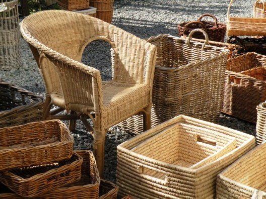 Use woven wicker chairs
