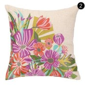 Peking Handicraft Pillow - Springtime Soiree 24IP50C16SQ