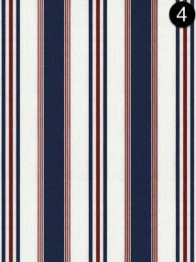 Fabric: Ralph Lauren - Highrock Stripe - Red + White + Blue LCF20853F